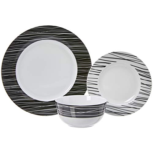 Zoom IMG-3 amazonbasics servizio di piatti per