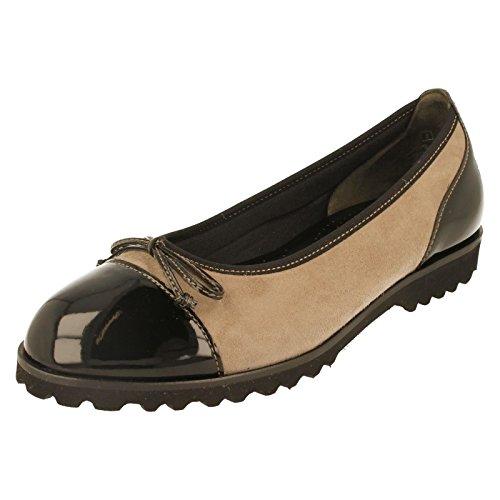 Gabor Womens 53.100.12 Tentation Chaussures Galets/noir Pebble/Black