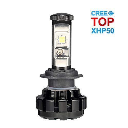 CHEDENG H11 / H7 / 9005/9006, Kit di conversione all-in-one di lampadine per fari a LED Super Bright 35W 7,600Lm 6000K Proiettore di chip CREE bianco freddo sostituibile per lampadine alogene, H7
