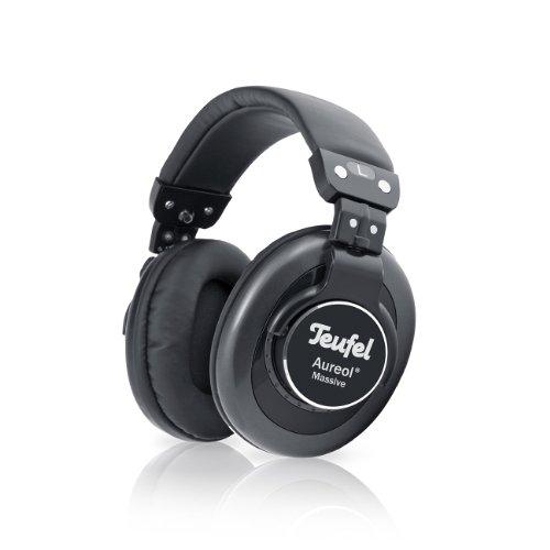 Teufel Aureol Massive Ohraufliegend Kopfband Schwarz - Kopfhörer (Ohraufliegend, Kopfband, Verkabelt, 10-22000 Hz, 3 m, Schwarz)