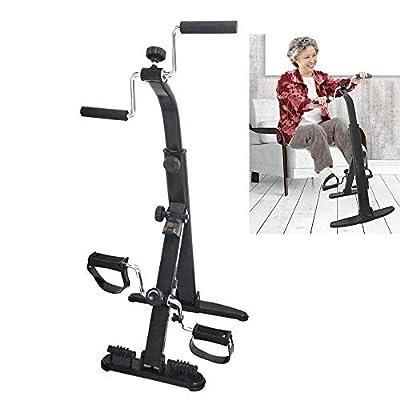 SHENGLLA Exercise Bike Arm and Leg Exerciser - Arm & Leg Exercise Peddler Machine - Portable Pedal Exerciser - Fitness Equipment for Seniors and Elderly by SHENGLLA