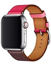 Following Bracelet de Montre en Cuir de Remplacement pour Montres Intelligentes Apple Série 4 (2018), 40 mm et 44 mm