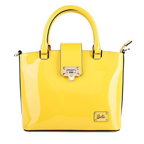 Barbie BBFB084.01A Colección de Serie de Moda Bolso causal y clásico de mano para mujer(amarillo)