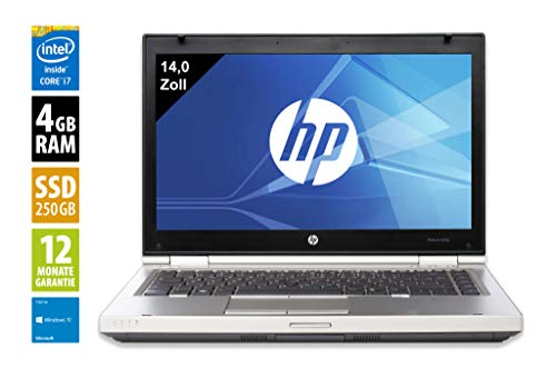 HP Elitebook 8470p   Notebook   Laptop   14,0 Zoll (1366x768)   Intel Core  i7-3540M @ 3,0 GHz   4GB DDR3 RAM   250GB SSD   DVD-Brenner   Windows 10