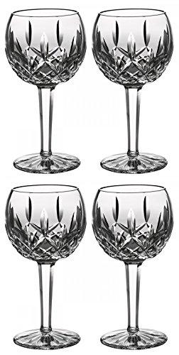 Waterford Crystal Lismore Verres à vin ballon, 6233181700, 226,8gram Lot de 4pièces Elegante Waterford Crystal