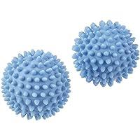 Bolas para secadora, Suaviza ropa, Ahorra energia, 2 unidades, 6,5 cm, color azul by DURSHANI