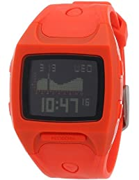 Nixon Herren-Armbanduhr The Small Lodown Neon Orange Digital Quarz Plastik A4981156-00
