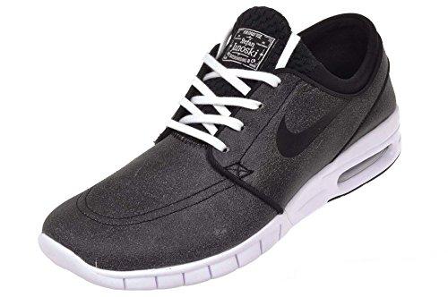 Nike Herren Stefan Janoski Max L Prm Skaterschuhe Black (Schwarz / Schwarz-Weiß-Wolf Grau)