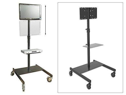 Monitor Standhalterung TV LED LCD Plasma mit Media Ablage rollbar schwenkbar Messen Messestand Modell: LB5 (Messestand)