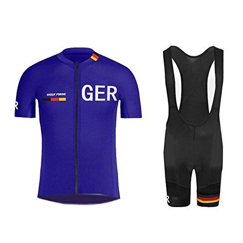Uglyfrog+ Fahrrad-Club Cycling Team Bekleidung Jersey Shirts Kurze Hosen Set Sportbekleidung