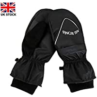 Jeantet Sport Winter Golf Gloves Mitts Thermal Warm Men Women Value Pair, Golf Mittens Fleece Lined Durable Soft Comfortable Running Cycling Waterproof Windproof For Sports Gloves Color Black