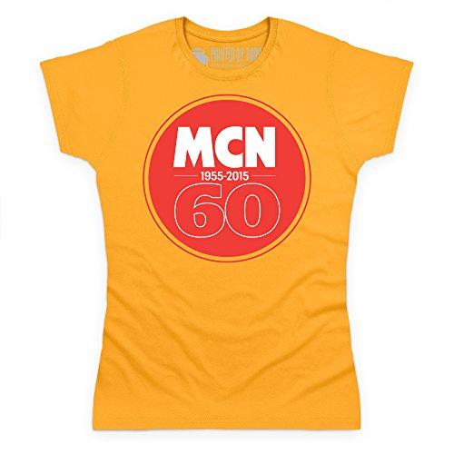 MCN 60th Anniversary T-Shirt, Damen Gelb