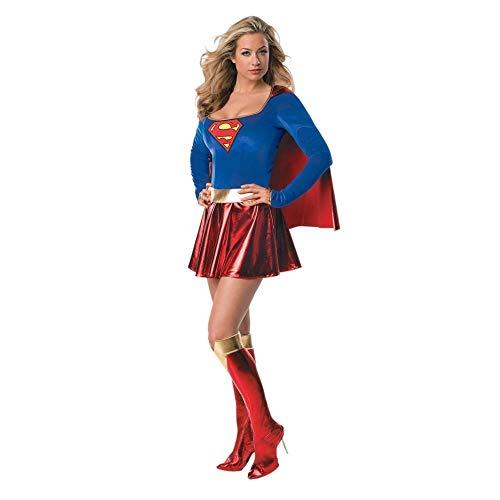 Generique - Sexy Supergirl-Kostüm Deluxe für Damen - Für Erwachsenen Super Girl Kostüm