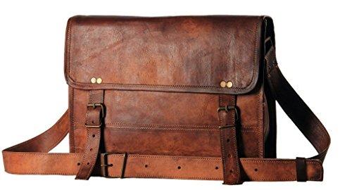 Bolsa de cuero de 30 y 35cm para hombre, bandolera de piel auténtica para universidad,...