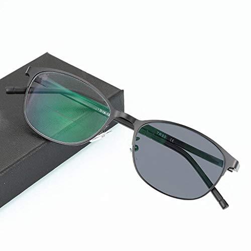 ZY Reading Glasses Sun Color Double Light Lesebrille Fern und Nah Zwei Farbverlauf Lesebrillen Outdoor-Sonnenbrille
