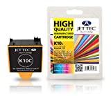 1 Jettec Kompatible Druckerpatrone Kodak 10C Farbe - Ersatz für ESP3250 ESP5 ESP5250 ESP7 ESP7250 ESP9 ESP9250 ESP5210 ESP5300 ESP5500 Office 6150 HERO 7.1 9.1 6.1 Easyshare 5200 5000 5100 - Mit Chip