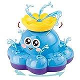 Badespielzeug, Spray-Wasser-Krake (gelegentliche Farbe), kann schweben und sich mit Brunnen drehen, Badewanne-Dusche-Pool Badezimmer-Spielzeug für Babys Kleinkinder Kinder-Party