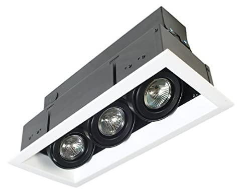 Eurofase TE113TR-02 3-Light MR16 Recessed Mutiple Strip Trim with 0084B3 Transformer, White by (Mr16 Trim)