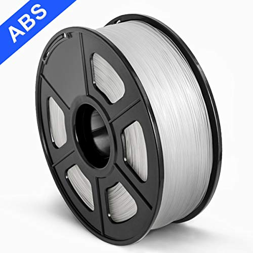 SUNLU 3D Printer Filament ABS, 1.75mm ABS 3D Printer Filament, 3D Printing Filament ABS for 3D Printer, 1kg, Transparent