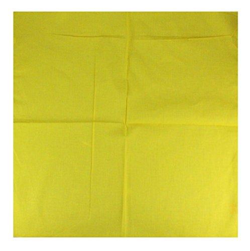 Bandana unifarben in gelb (Band Schal)