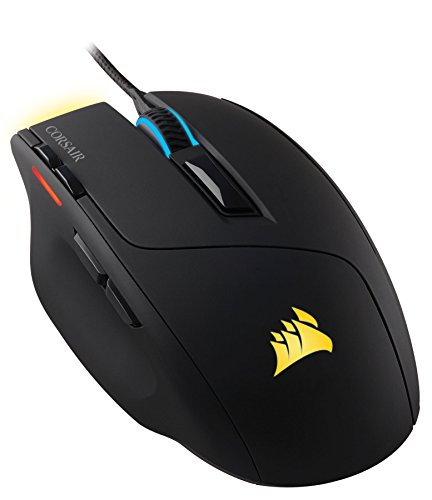Corsair Gaming CH-9000111-EU Sabre Optische Gaming Maus (Multi-Colour RGB Beleuchtung Performance 6400 DPI) schwarz