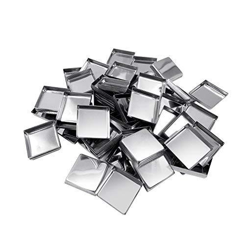 Allwon 56 Pack leere quadratische Metallpfannen für Lidschatten-Palette Magnetische Make-up-Palette (26mm)