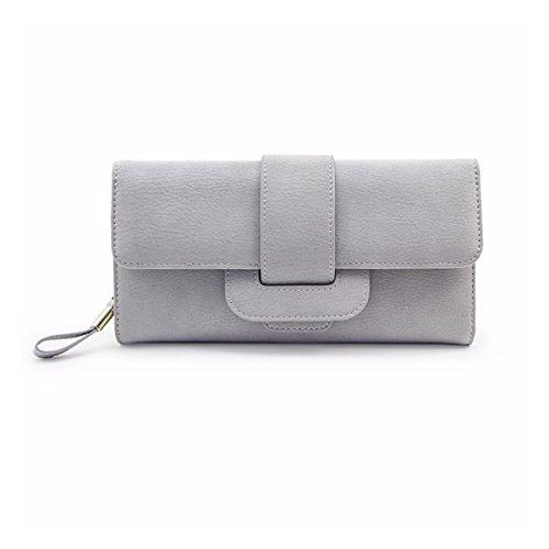 Geldbörse damen,Charminer frauen großer kapazität Geldbeutel Handtasche 5.5-inch smartphone,modische Frau Portemonnaie/lange Brieftasche Grau