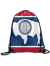 Preisvergleich für Vilico Wyoming Kulturbeutel, mit Kordelzug, Motiv: Nationalflagge