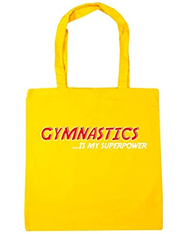 HippoWarehouse Gymnastics is My Superpower Tote Shopping Gym Beach Bag 42cm x38cm, 10 litres