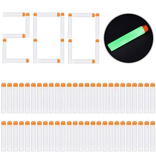 rike Modulus Spielzeugblaster Kompatibler Pfeile Dart Bullets, Glow, weiß ()