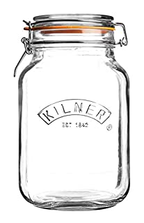 Kilner Square Glass Clip Top Jar with Airtight Rubber Seal, 2 Litre (B001DYO4KY) | Amazon price tracker / tracking, Amazon price history charts, Amazon price watches, Amazon price drop alerts