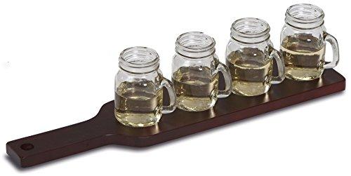 Picknic Plus Spirits & Whiskey Taster Flight Mason Jars 5 Stück