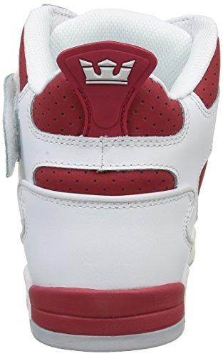 Supra Bleeker, Baskets Basses Homme Blanc - Weiß (WHITE / RED -WHITE 121)