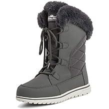 Donna Anatra Impermeabile Pioggia La Neve Inverno Foderato in Pile Caldo  Stivali A metà Polpaccio 971894c278b