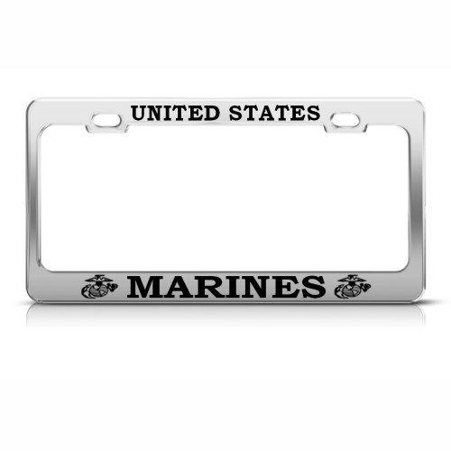 Marine Metall Militär US-Marines Nummernschild Rahmen Tag Halter -