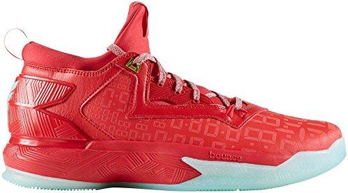 adidas D Lillard 2, Scarpe da Basket Uomo, D(M) US Ray Red/Ice Green/Ray Red