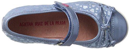 Agatha Ruiz de la Prada 172971, Mary Jane fille Blau (Vaquero Y Estampado Corazones)