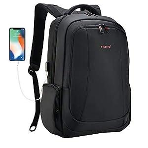 seguro de robo: Tigernu mochila portátil de negocios delgado contra robo computadora de viaje mo...