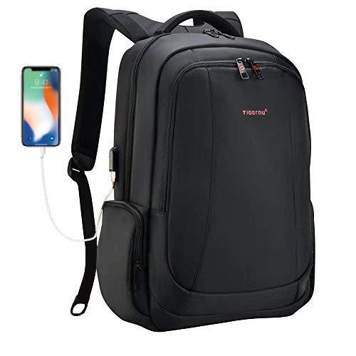 Tigernu mochila portátil de negocios delgado contra robo computadora de viaje...