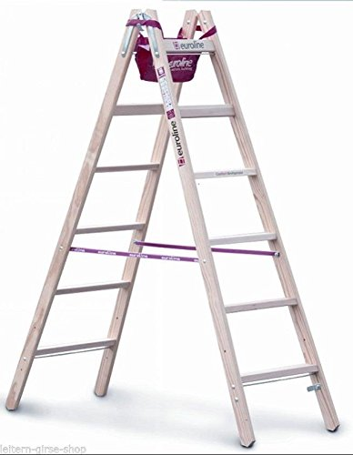 Escalera de madera de ancho Travesaños (2x 4peldaños segunda mano  Se entrega en toda España