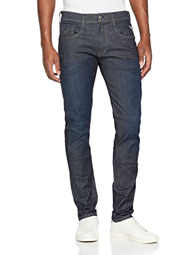 Replay Hyperflex Herren Stretch Jeanshose Anbass, Blau (Blue Denim 7), W34 / L30 (Herren Verschönert)