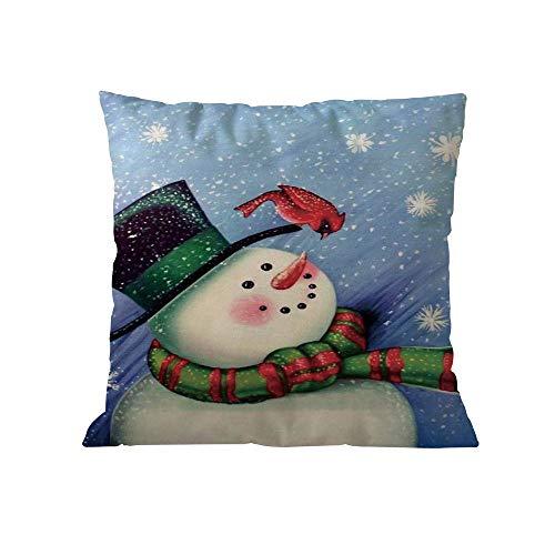 TEBAISE Karneval Weihnachten Kissenbezug Set Leinen Dekorative Kissenhülle Drucken Sofa Bett Home Decor Kissen Cover 45 x 45cm Fasching Fasnacht Weihnachten ()