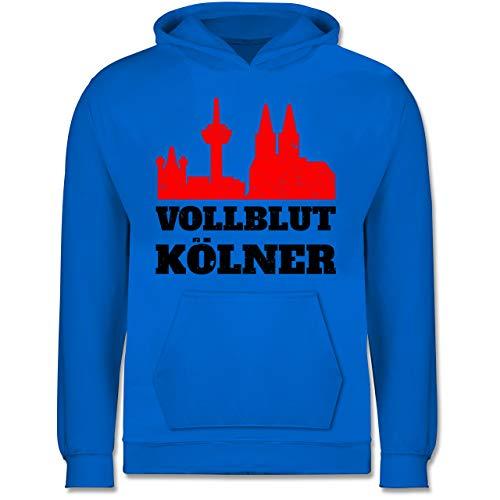 Städte & Länder Kind - Vollblut Kölner - 12-13 Jahre (152) - Himmelblau - JH001K - Kinder Hoodie