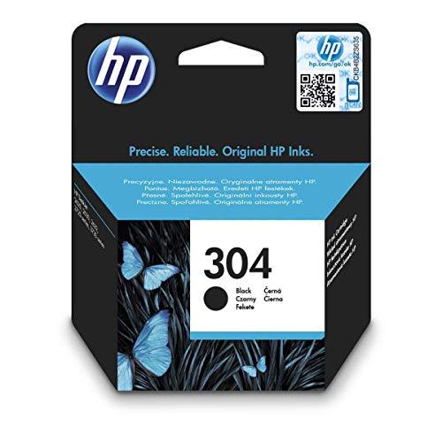 HP 304 Schwarz Original Druckerpatrone für HP DeskJet 2630, 3720, 3720, 3720, 3730, 3735, 3750, 3760; HP ENVY 5020, 5030, 5032