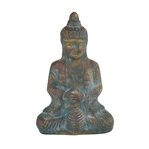 Buddha Thai sitzend 32x21x12cm Keramik Buddhafigur Feng Shui Garten Budda Deko