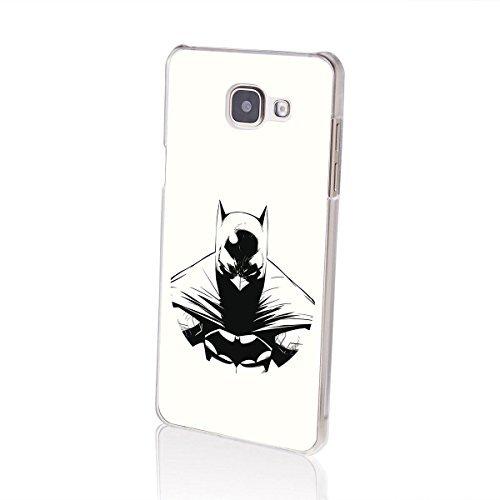 """finoo   Samsung Galaxy A5 2016 Hard Case Handy-Hülle """"Batman"""" Motiv   dünne stoßfeste Schutz-Cover Tasche mit lizensiertem Muster   Premium Case für Dein Iphone  Batman Logo black middle Batman anger white"""