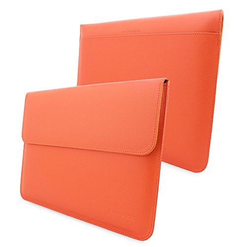 Snugg Funda para MacBook Air 11, 8482; - Estuche De Cuero Naranja con Una Garantía De por Vida para Apple MacBook Air 11""