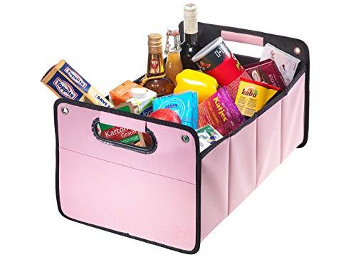 Kofferraumtasche aus Polyester mit stabilem Boden (rosa inkl. CBag) - Klappbox Kofferraumbox Faltbox Organizer Autobox Tasche Auto Kofferraum Zubehör CB Präsentwerbung GmbH
