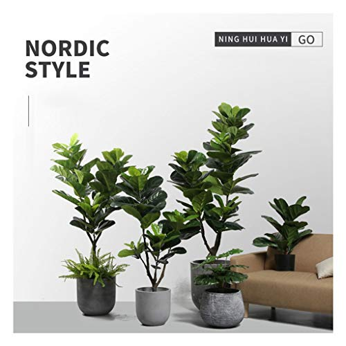 RENDER TY Kunstpflanzen Wohnkultur, Fiddle Leaf Fig Tree Indoor-Feigenbaum 716 (Size : 47X6inch) -