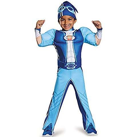 Disguise Sportacus Toddler Muscle Lazy Town Cartoon Network Costume, One Color, Medium/3T-4T by Disguise